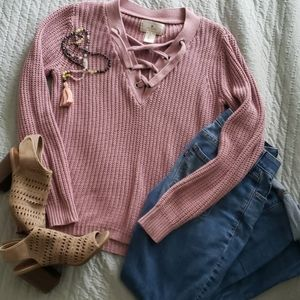 Ruby moon chunky knit sweater